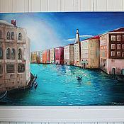 Картины и панно ручной работы. Ярмарка Мастеров - ручная работа Картина маслом Солнечная Венеция. Handmade.