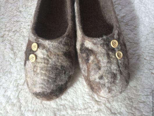 Обувь ручной работы. Ярмарка Мастеров - ручная работа. Купить Тапочки мужские. Handmade. Серебряный, тапки валяные, валяная обувь