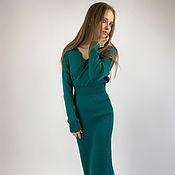 Одежда handmade. Livemaster - original item Dress case emerald. Handmade.