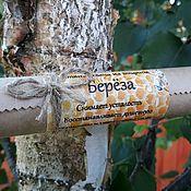 Сувениры и подарки handmade. Livemaster - original item Candle from wax with birch, 20cm. Handmade.
