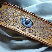 """Украшения ручной работы. Ярмарка Мастеров - ручная работа Браслет кожаный """"Душа дракона"""".. Handmade."""