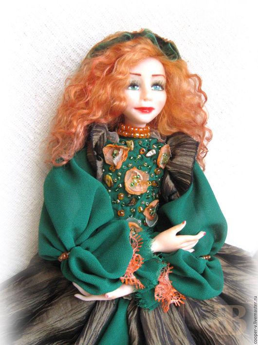 Коллекционные куклы ручной работы. Ярмарка Мастеров - ручная работа. Купить Беатрис. Handmade. Зеленый, оригинальный подарок