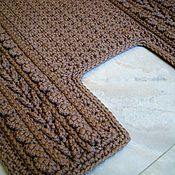 Для дома и интерьера handmade. Livemaster - original item The rug is handmade for bathroom irregular shape. Handmade.