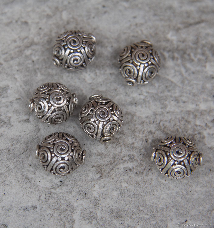Бусина серебряная Улитка ручной работы, Бусины, Москва,  Фото №1