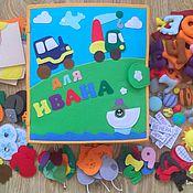 Куклы и игрушки handmade. Livemaster - original item Educational book from fabric 2. Handmade.