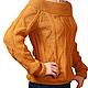 Кофты и свитера ручной работы. Ярмарка Мастеров - ручная работа. Купить Пуловер вязаный золотисто-бежевый. Handmade. Оранжевый
