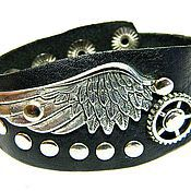 Украшения handmade. Livemaster - original item A leather bracelet steampunk