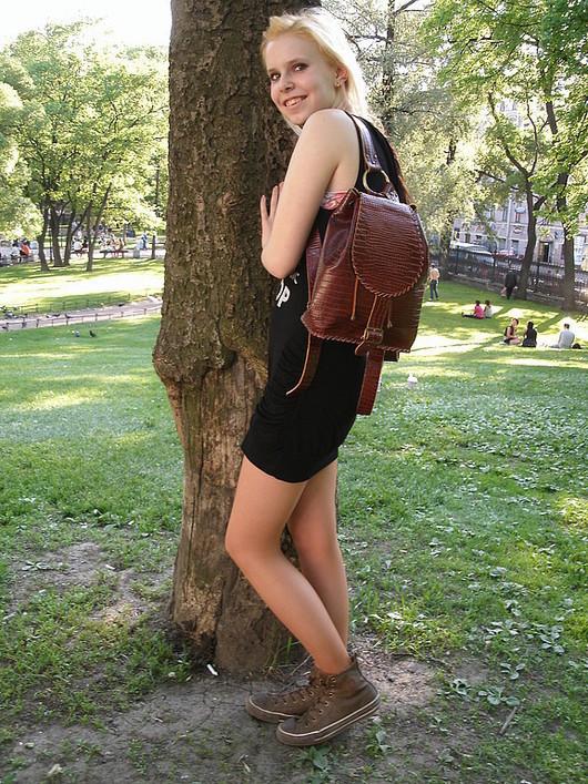 Рюкзаки ручной работы. Ярмарка Мастеров - ручная работа. Купить Рюкзак из рыже-коричневого крокодила. Handmade. Кожаный рюкзак, рюкзак