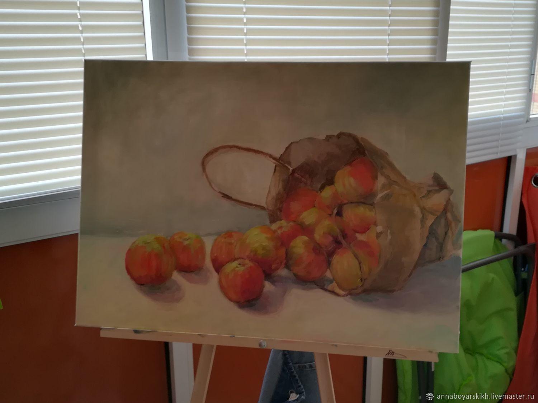 изменения картина яблоко на руке холст фото можем