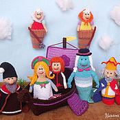 """Куклы и игрушки ручной работы. Ярмарка Мастеров - ручная работа Пальчиковый театр """"Летучий корабль"""". Handmade."""