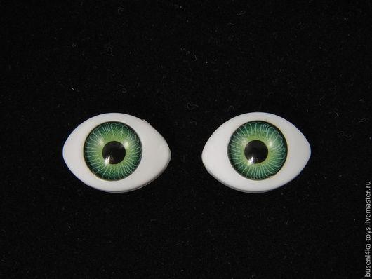 """Куклы и игрушки ручной работы. Ярмарка Мастеров - ручная работа. Купить 12х17мм Глаза кукольные (зелёные) 2шт. """"1671"""". Handmade."""
