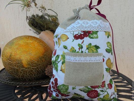 Кухня ручной работы. Ярмарка Мастеров - ручная работа. Купить Плоды природы-мешочки для хранения.. Handmade. Кухня, орехи