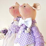 Куклы и игрушки ручной работы. Ярмарка Мастеров - ручная работа Mr. &  Mrs. Mouse. Свадьба в стиле Прованс. Handmade.