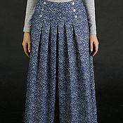 """Одежда ручной работы. Ярмарка Мастеров - ручная работа Джинсовая юбка в пол """"Элизабет"""". Handmade."""