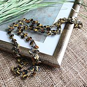 handmade. Livemaster - original item Long leather beads Hunter. Handmade.