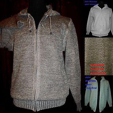 Одежда ручной работы. Ярмарка Мастеров - ручная работа 100% лён Толстовка лёгкая с длинным рукавом. Handmade.