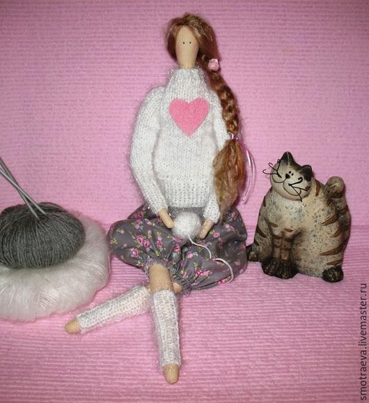 Куклы Тильды ручной работы. Ярмарка Мастеров - ручная работа. Купить Кукла Рукодельница. Handmade. Серый, купить подарок