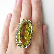 Украшения handmade. Livemaster - original item Ring with lemon quartz. 925 sterling silver st.. Handmade.