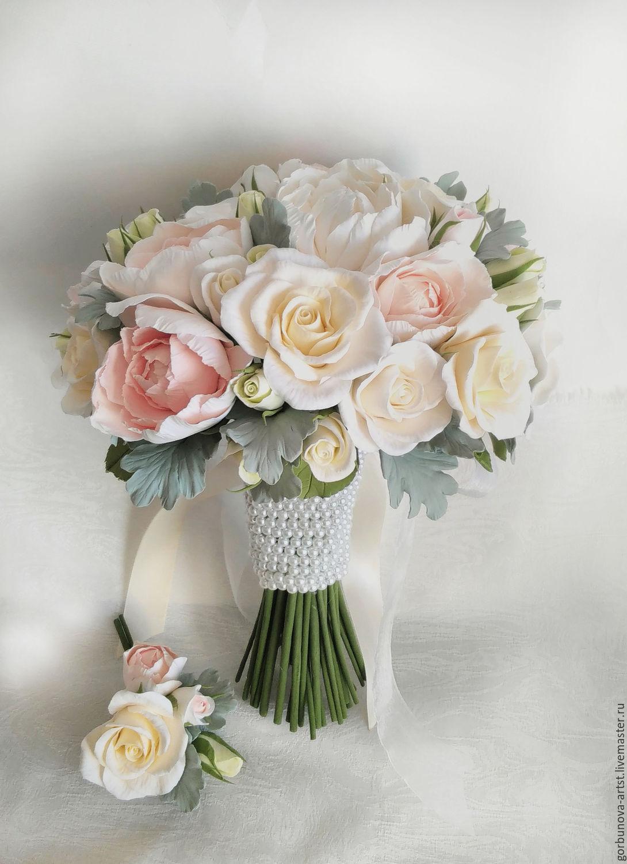 Роз кустовых, свадебные букеты от анны