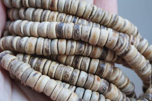 Для украшений ручной работы. Ярмарка Мастеров - ручная работа. Купить Кокосовые  шайбы,  8 мм. Handmade. Кокосовые бусины