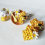 Украшения ручной работы. Ярмарка Мастеров - ручная работа Мед и пчелы набор украшений из полимерной глины. Handmade.