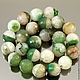 Бусины из натурального камня агата коричневого цвета с кварцем кракле формы граненый шар диаметром 16 мм комплектами по 5 штук для использования в сборке украшений