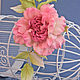 """Броши ручной работы. Роза """"Scintillio"""". Натуральный шелк. 'Poli-Flower'   (Надежда). Ярмарка Мастеров. Синий, брошь-цветок"""