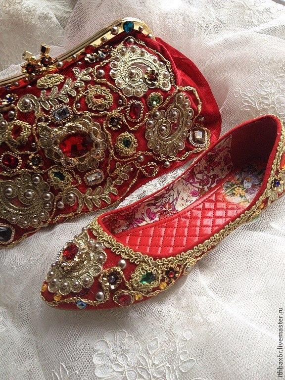 """Обувь ручной работы. Ярмарка Мастеров - ручная работа. Купить Балетки""""Зачарованная Сицилия""""в стиле DG. Handmade. Балетки, блестящие"""