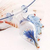 Украшения ручной работы. Ярмарка Мастеров - ручная работа Fly-fly (голубой) - кулон лэмпворк. Handmade.