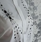 Одежда ручной работы. Ярмарка Мастеров - ручная работа Рубашка с росписью Бусы Шанель. Handmade.