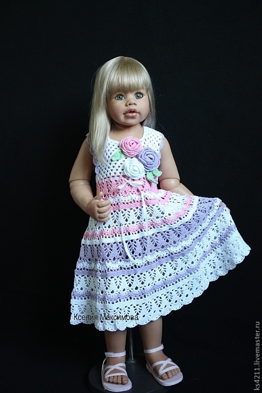 Одежда для девочек, ручной работы. Ярмарка Мастеров - ручная работа. Купить сарафан для девочки Букет Роз. Handmade. Белый, сарафан