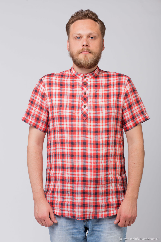 Men's linen shirt Amur, Mens shirts, Omsk,  Фото №1