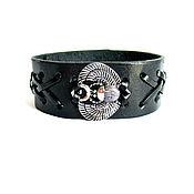 Украшения handmade. Livemaster - original item Scarab bracelet genuine leather. Handmade.