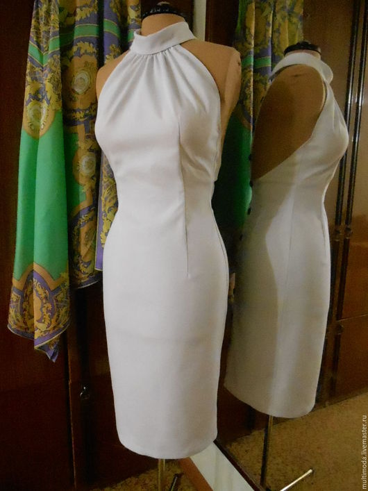 Платья ручной работы. Ярмарка Мастеров - ручная работа. Купить Белое платье с открытой спиной. На выпускной. Скидка 30%. Handmade.