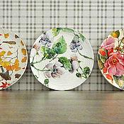 """Посуда ручной работы. Ярмарка Мастеров - ручная работа Набор декоративных тарелок """"Цветные сны"""".. Handmade."""