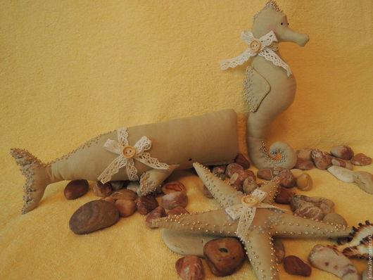 Куклы Тильды ручной работы. Ярмарка Мастеров - ручная работа. Купить Жители океана. Handmade. Море, морские обитатели