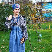 Одежда ручной работы. Ярмарка Мастеров - ручная работа Мезенская рубаха 02. Handmade.