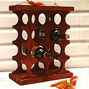 Для дома и интерьера ручной работы. Ярмарка Мастеров - ручная работа Столик подставка для вина Теплая Осень. Handmade.