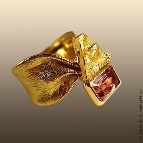 Кольца ручной работы. Ярмарка Мастеров - ручная работа. Купить Кольцо Клио, золото 585. Handmade. Необычное украшение, желтый