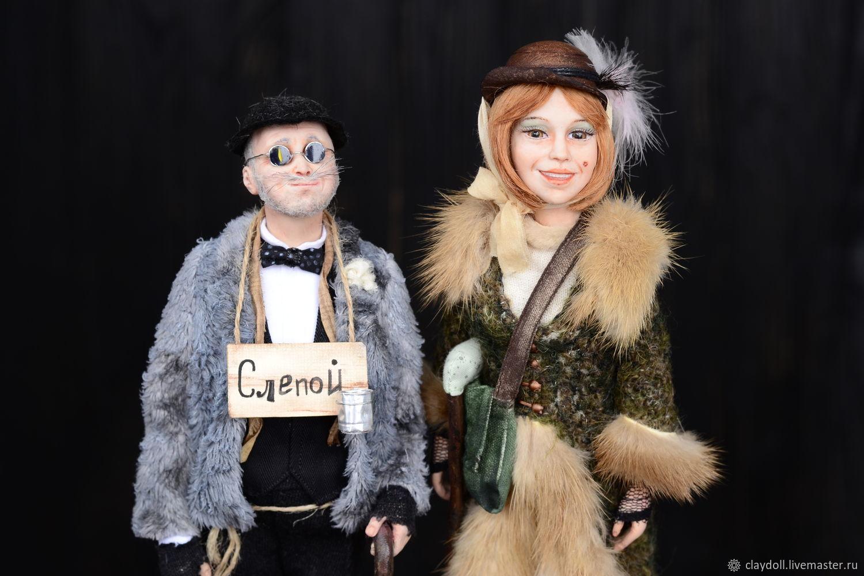 Лиса Алиса и Кот Базилио, Портретная кукла, Москва,  Фото №1