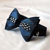 Аксессуары handmade. Livemaster - original item Bow tie with duck and Guinea fowl feathers. Handmade.
