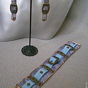 Украшения ручной работы. Ярмарка Мастеров - ручная работа Джинсовый комплект 2. Handmade.