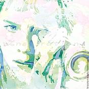 Картины и панно ручной работы. Ярмарка Мастеров - ручная работа Портрет по фото (Jeremy Sumpter). Handmade.
