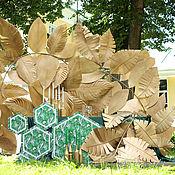 Свадебный салон ручной работы. Ярмарка Мастеров - ручная работа Золотые листья (фон-фотозона). Handmade.