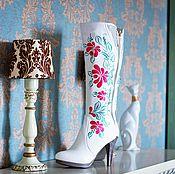 """Обувь ручной работы. Ярмарка Мастеров - ручная работа Сапоги """"Весна"""". Handmade."""