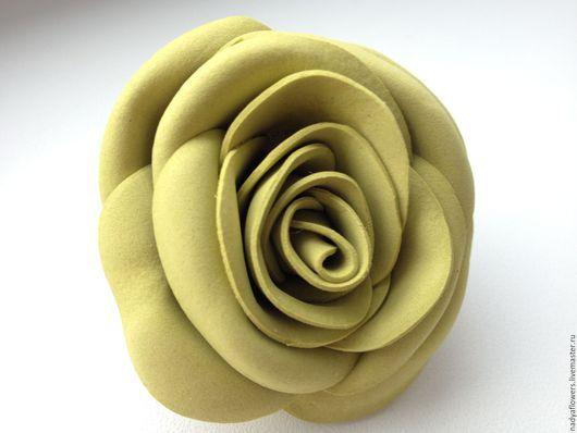 Брошь из фоамирана. Брошь роза из фоамирана. Заказать. надежда Тимченко. Украшение ручной работы.