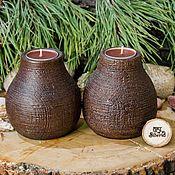 Для дома и интерьера handmade. Livemaster - original item Wooden textured candlesticks made of pine wood-2 pcs. WC23. Handmade.