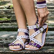 Обувь ручной работы handmade. Livemaster - original item Sandals made of genuine leather Amazon. Handmade.