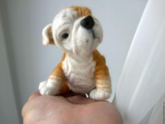 Игрушки животные, ручной работы. Ярмарка Мастеров - ручная работа. Купить Собака ручной работы - английский бульдог Кузьма(щенок). Handmade.