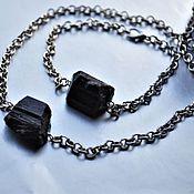 Украшения handmade. Livemaster - original item Bracelet and necklace with black tourmaline (sherl). Handmade.